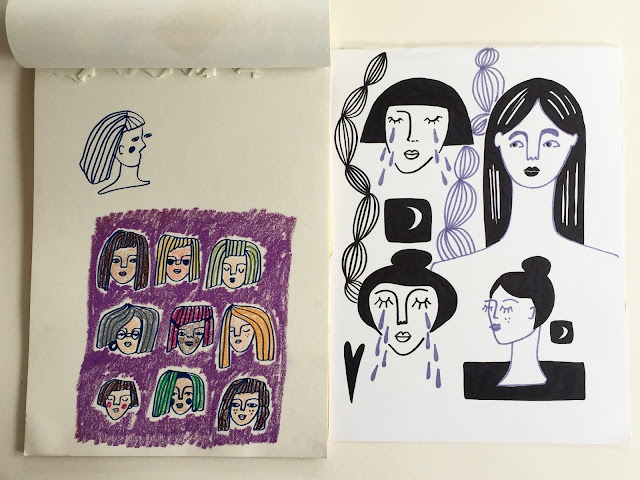 Lizzie Christian, Rare Press, sketchbooks, block printing, Sketchbook Conversations
