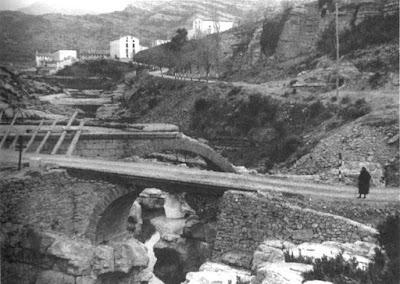 Puente Nuevo, Ponou, Pont nou, Beceite, Beseit, imagen antigua