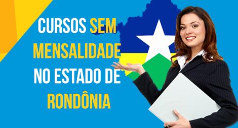 Lista de cursos sem mensalidade no estado de Rondônia