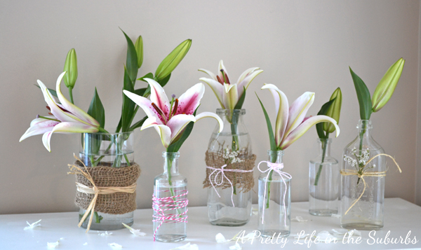 Simple Spring Flower Vases A Pretty Life In The Suburbs
