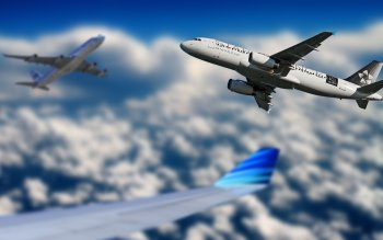 Wallpaper: Passenger Airplanes on the Sky