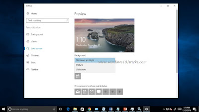 Turn off Windows Spotlight