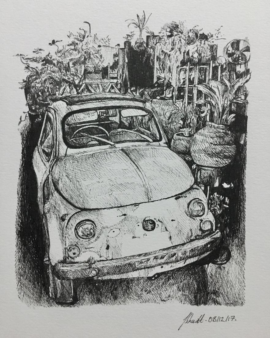 11-Minanoie-Classic-Fiat-500-Julia-Schmitt-Visual-Diary-Ballpoint-Pen-Urban-Sketches-www-designstack-co