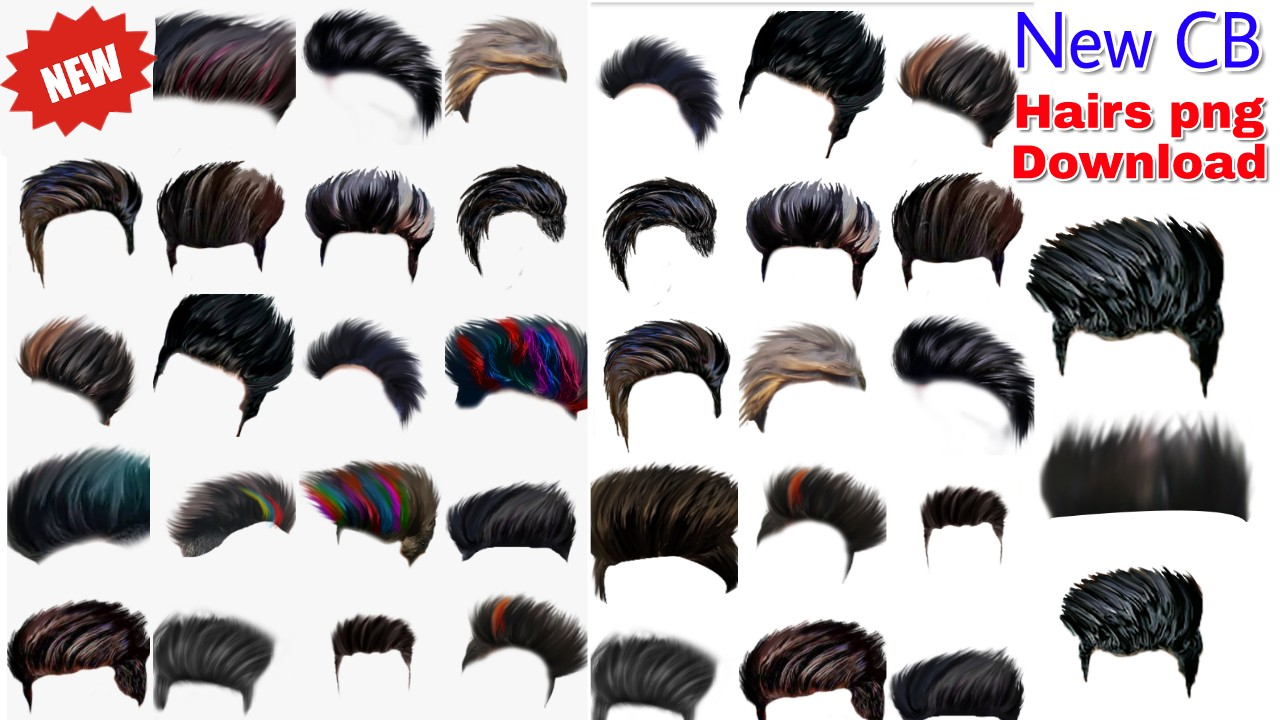 Stylish Hair Png For Picsart Png Background Hd For Picsart Hair