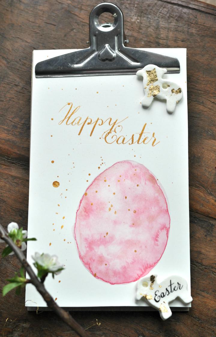DIY Easter Decoration made of cold porcellain