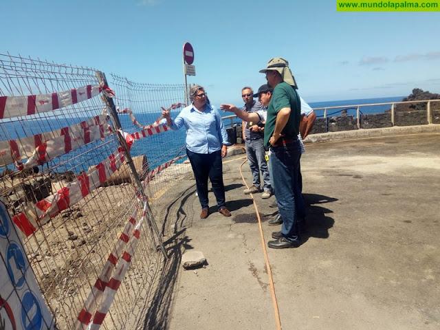 Avanzan a buen ritmo las obras de remodelación del litoral de Puerto Naos y El Charco Verde financiadas por Costas