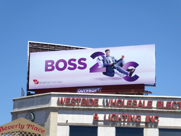 Virgin America First Class Boss billboard
