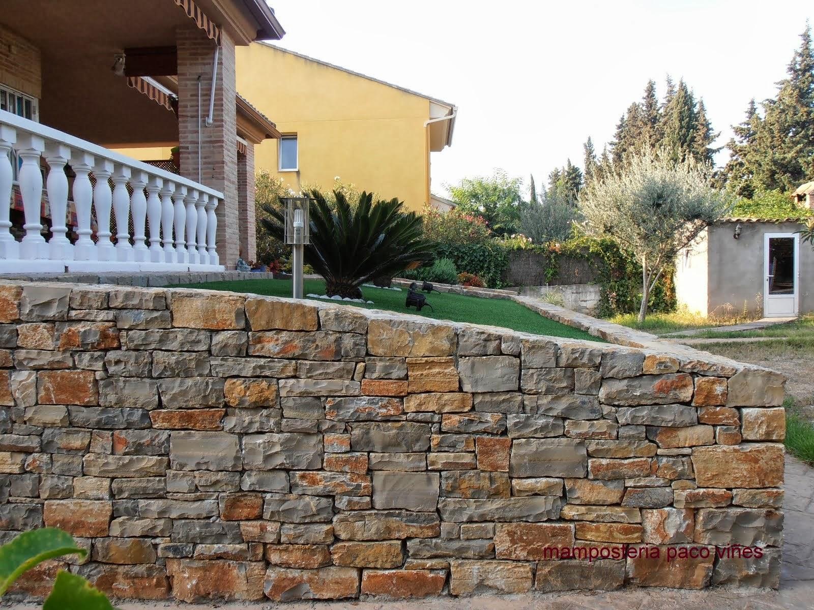 Piedra para jardin mamposteria paco vi es - Muros de piedra construccion ...