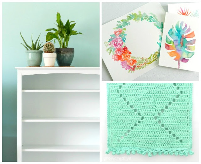 Watercolors, Home decorating, and Crochet projects.  Best of 2016- Grow Creative Blog