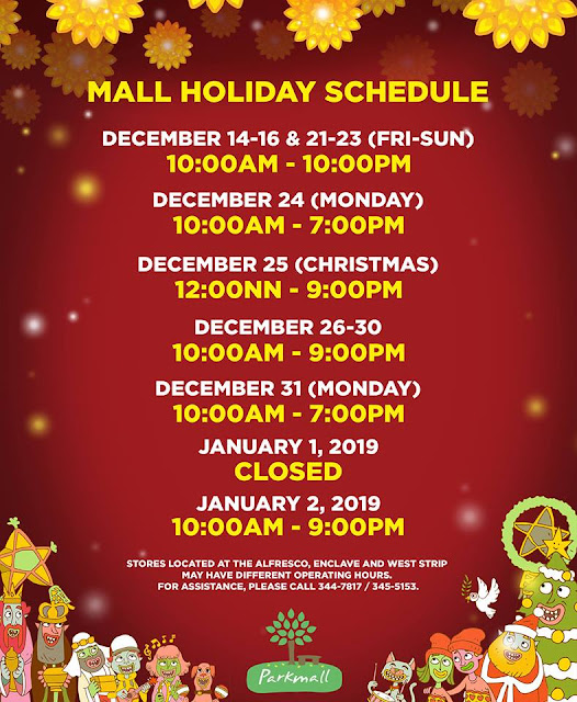 Holiday Mall Hours 2018 Parkmall Mandaue
