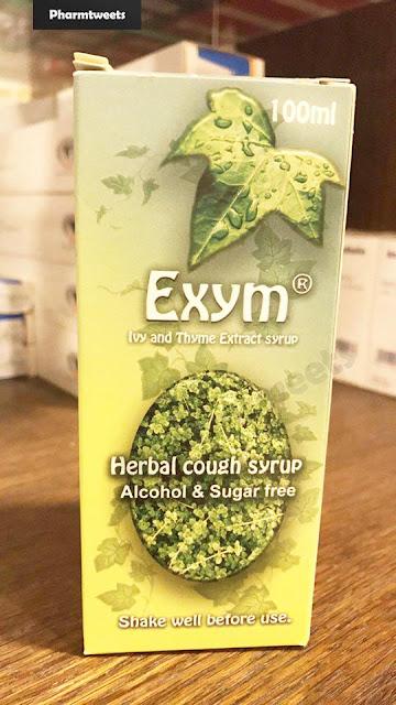 دواء  Exym ومادة الفعالة Ivy & thyme extract