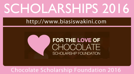 Chocolate Scholarship Foundation 2016