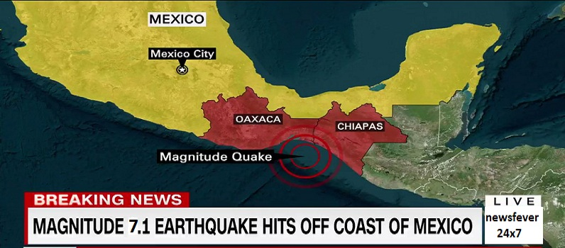 Huge Earthquake In Mexico City