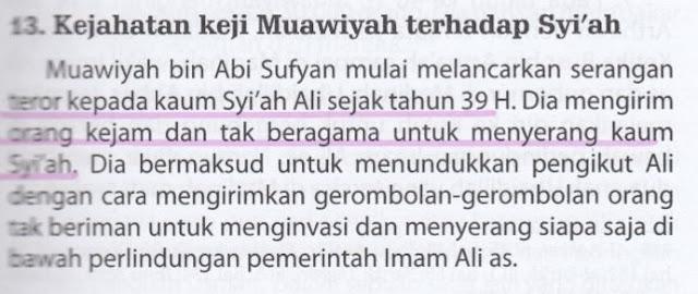 Syiah Menuduh Muawiyah telah Berbuat Keji & Melakukan Teror