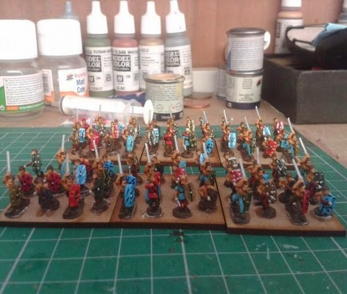 Another couple of Gallic/Celtic Warbands completed picture 1