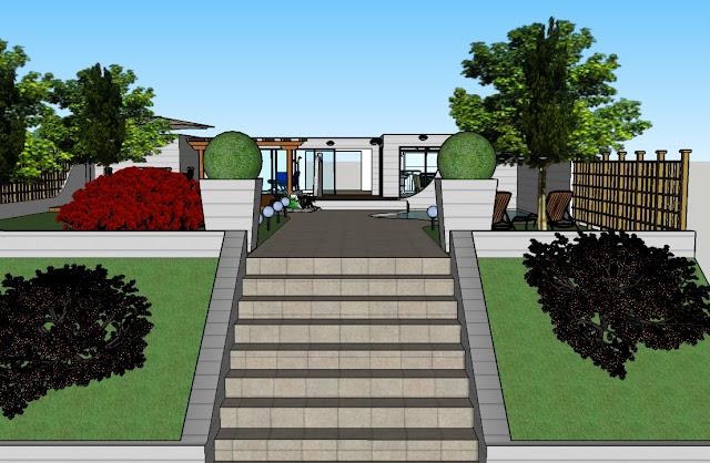 Progetto giardino interno 75 - Vialetto giardino illuminato ...