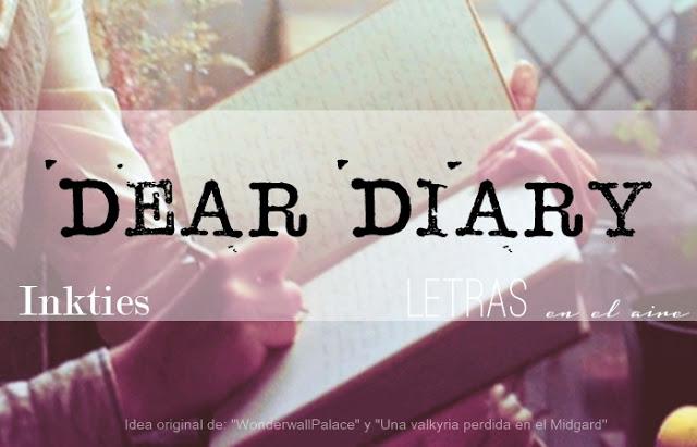 """Cartel para reto """"Dear diary"""""""
