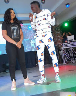 Regina Daniels Spotted With Akpororo On Stage