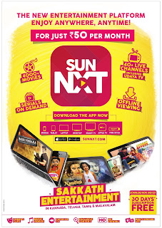 Sun Nxt sakkath entertainment  from rs 30/-