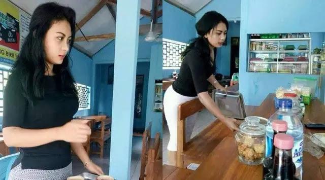 Andita, Pelayan Cantik Warung Kopi Yang Menjadi Viral Di Media Sosial