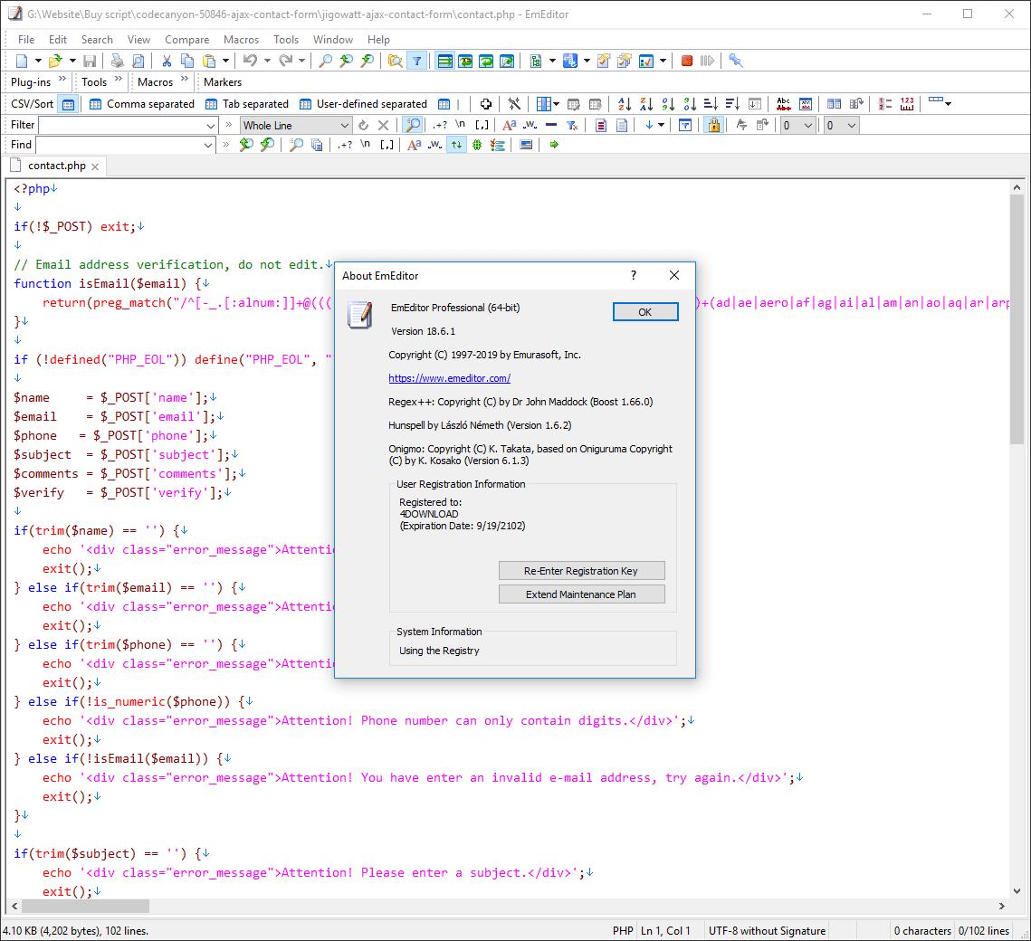 EmEditor Professional v18.6.1 Full version
