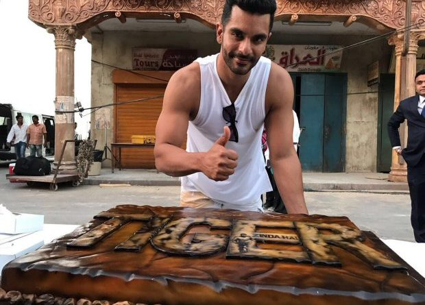 Angad Bedi Cuts a Gigantic Cake Featuring Salman Khan After Wrapping up Shoot for Tiger Zinda Hai