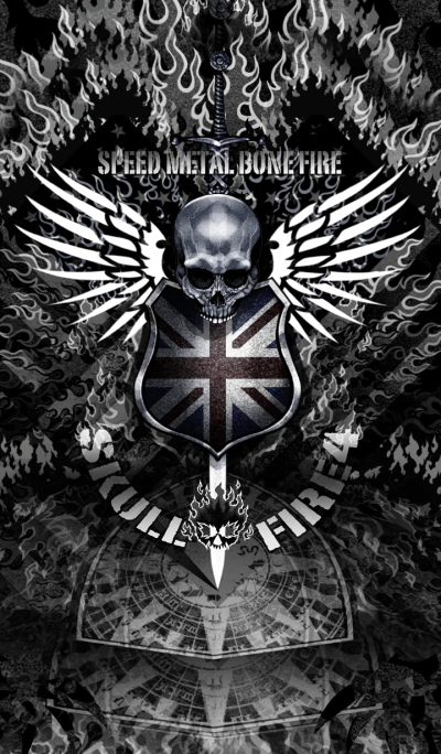 Speed Metal Bone Fire Skull Fire 4