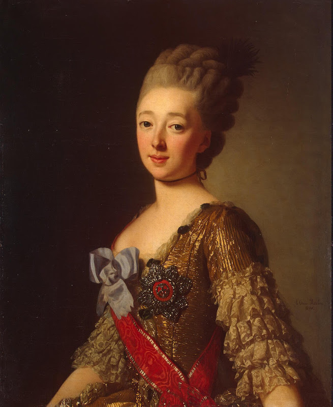 Portrait of Grand Duchess Natalia Alexeyevna by Alexander Roslin - Portrait Paintings from Hermitage Museum