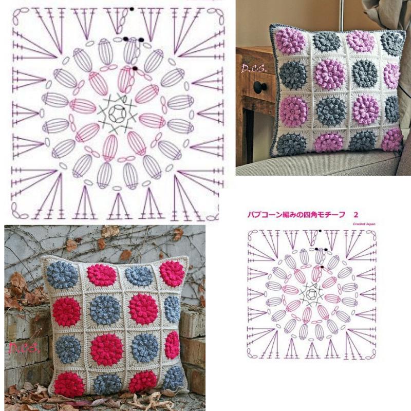 Patrones Para Hacer Cojines.20 Patrones De Almohadones A Crochet