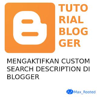 Mengaktifkan Search Description di Semua Artikel Blogger