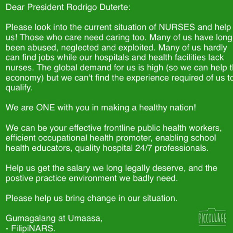 Duterte Administration To Study The Increase Of Nurse S Salary And
