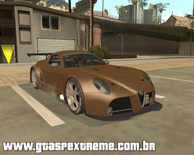 Alfa Romeo 8C Competizione para grand theft auto