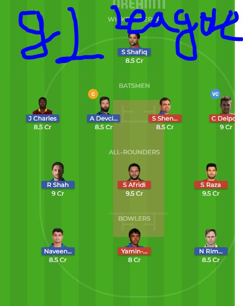 NAN VS PP DREAM11