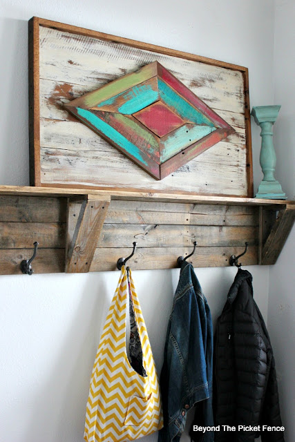 use scrap wood to make a rustic wood sign
