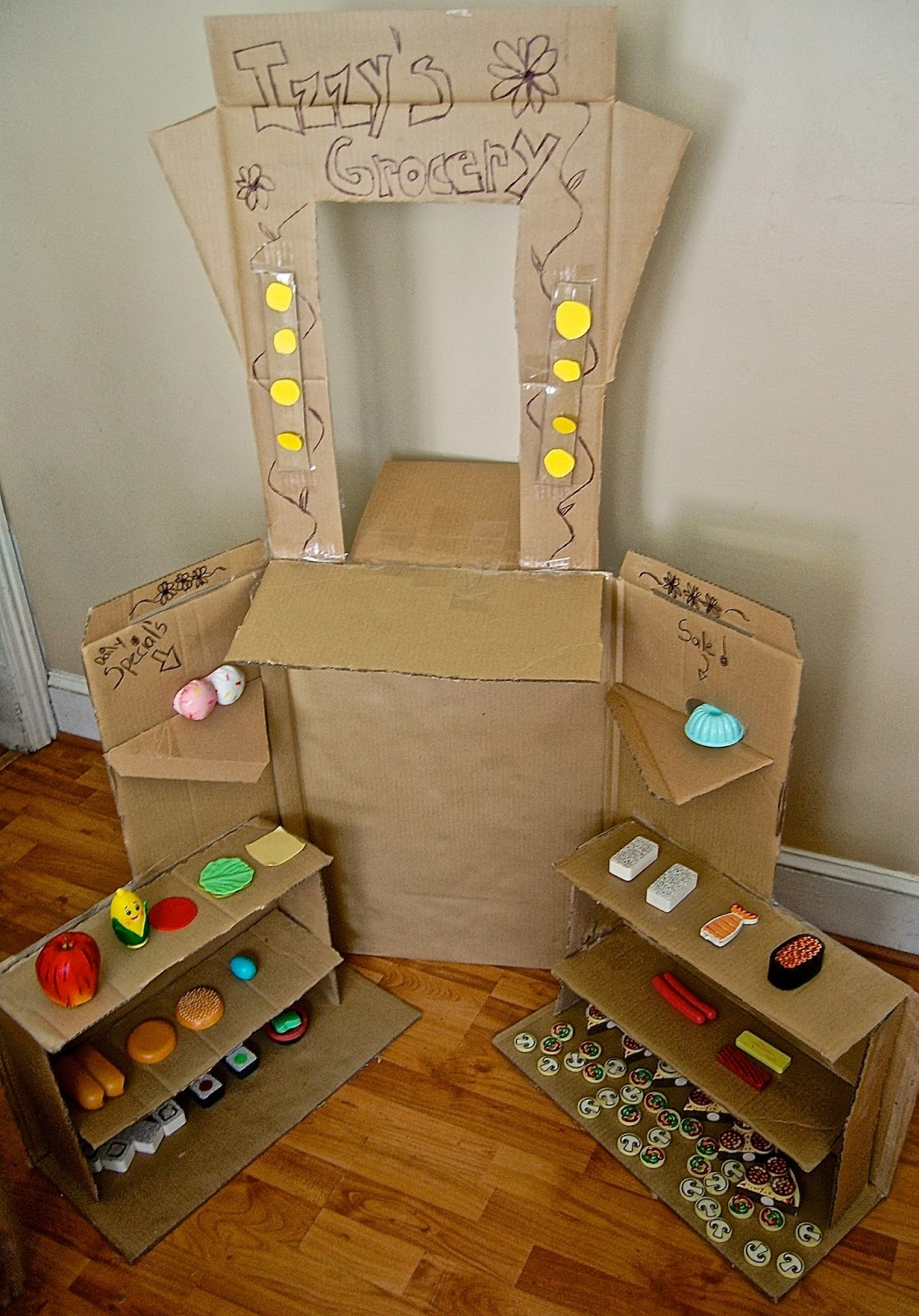 DIY Kid's Cardboard Market Stand - Peace Love Organic Mom