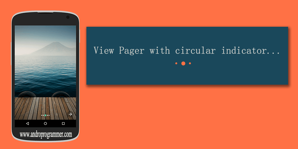 View Pager With Circular Indicator (without any library