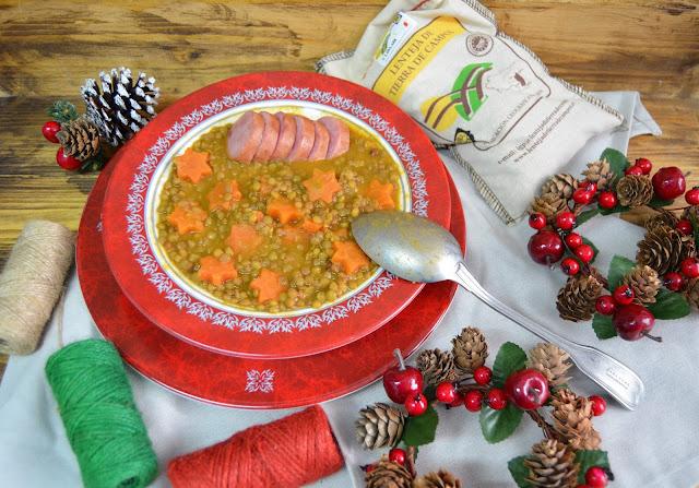recetas de navidad, recetas de lentejas, lentejas, lentejas de la suerte, lentejas para fin de año, lentejas con cotechino, lentejas con butifarra, receta de lentejas italiana, las delicias de mayte,