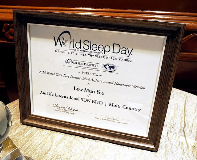 2019 World Sleep Day Distinguished Awards - AmLife International