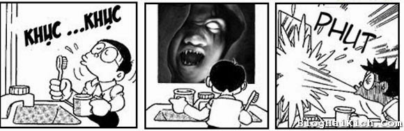 Doremon chế Halloween hài hước, ớn lạnh ^^