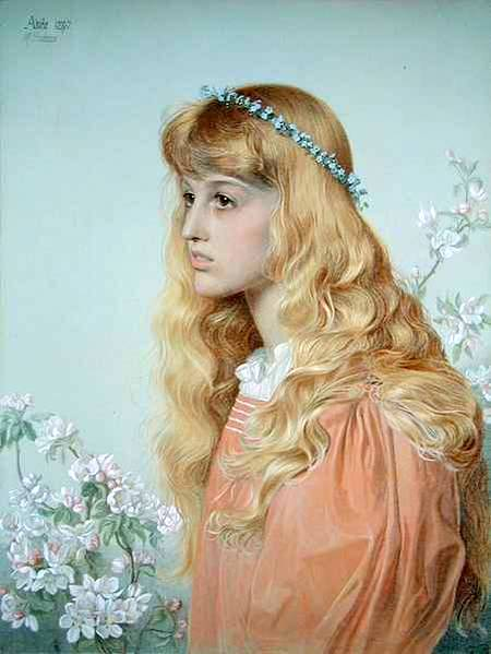 Red Hair In Paintings: Red Haired Women With Flowers