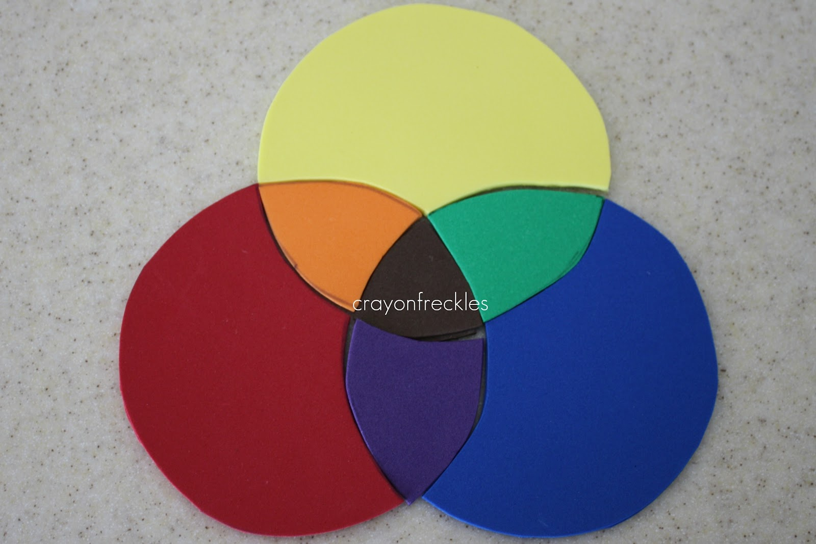 Venn Diagram Puzzles Ncaa Basketball Court Crayon Freckles Diy Color Wheel Foam Puzzle