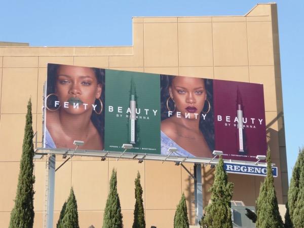 Rihanna Fenty Beauty lipstick billboard