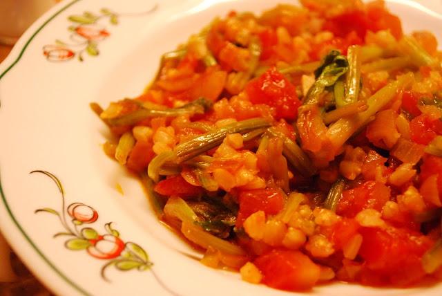 Buğdaylı Kök Ispanak Yemeği