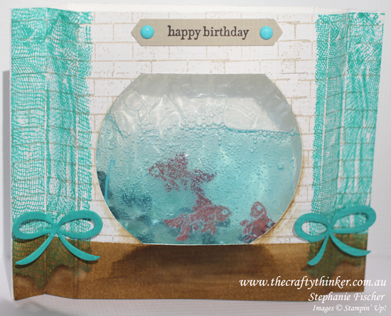 Stampin Up, #thecraftythinker, #crazycraftersbloghop, Fish Bowl, Gel Card, Ghoulish Grunge, Stampin Up Australia Demonstrator
