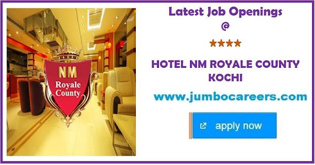 4 star hotel jobs cochin, housekeeping jobs kochi, latest cdp vacancy kochi