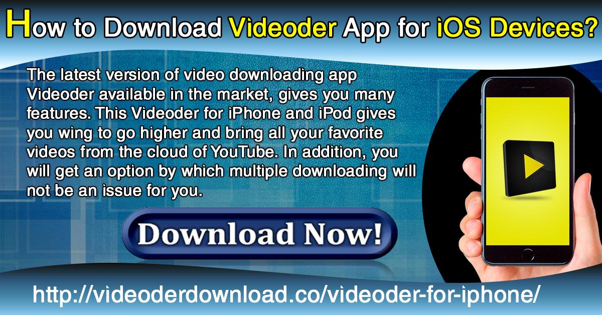 videoder apk download 2018 for iphone