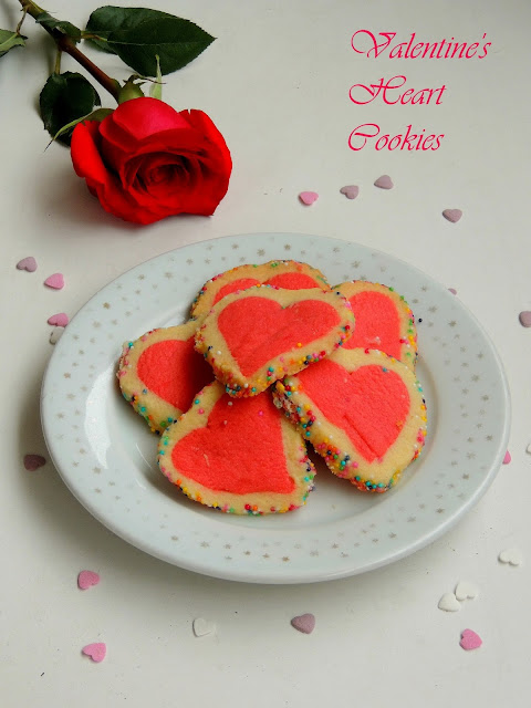 Valentines day heart cookies, Valentine's day special heart cookies