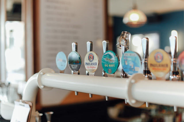 the patron bar in manchester craft beer selection and food