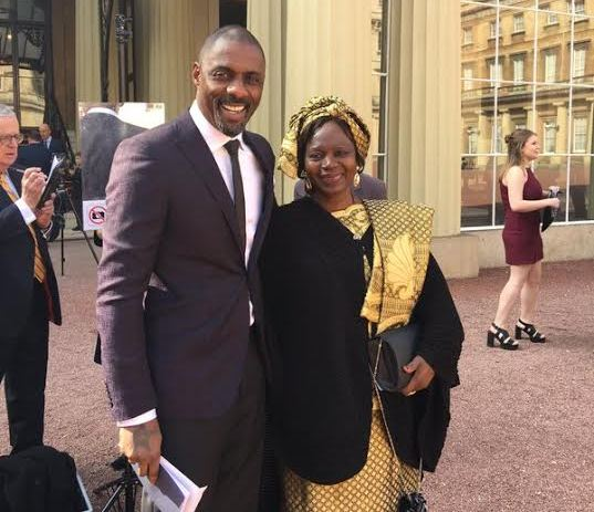 IDRIS ELBA AND HIS MOTHER AT BUCKINGHAM PALACE OBE