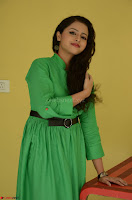 Geethanjali in Green Dress at Mixture Potlam Movie Pressmeet March 2017 035.JPG